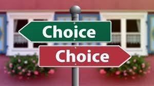 doppia scelta e conseguenze opposte